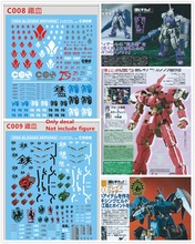 DL רסק מים מדבקות באיכות גבוהה עבור Gundam Bandai MG 1/100 RG 1/144 ברזל בדם יתומים DL011