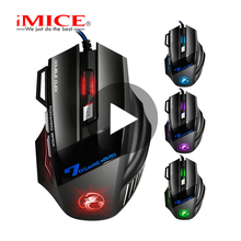 iMice X7 Silent Game Gaming Mouse Gamer Wired For Computer PC Laptop Noiseless Ergonomic USB Mause Rato RGB With Backlight Raton