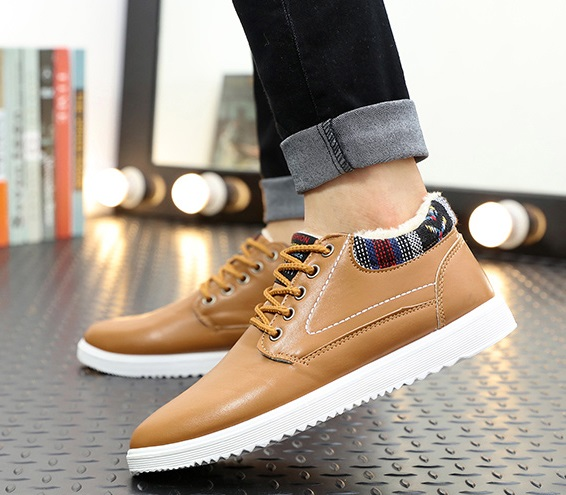 Men's Shoes 2018 Winter Fur Warm Male Boots For Men Casual Shoes Work Adult Quality Walking Rubber Brand Safety Footwear Sneakers Nov21 Basic Boots