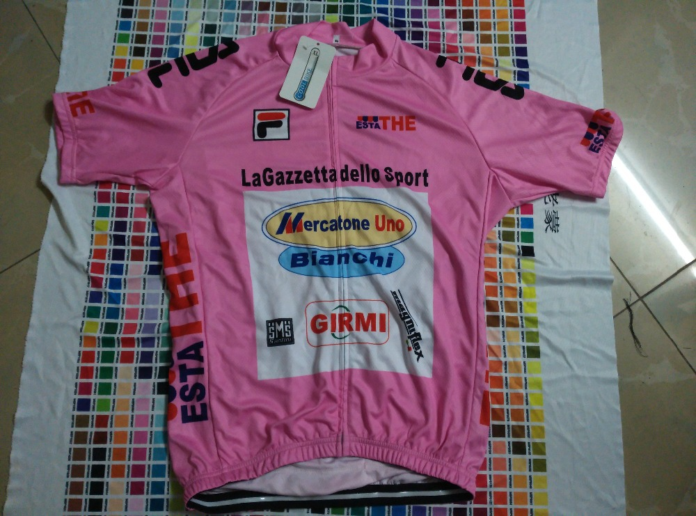 Marco Pantani Mercatone Uno pink jercey team cycling jersey + bib shorts  team cycling kit-in Cycling Sets from Sports   Entertainment on  Aliexpress.com ... b9d984fb5
