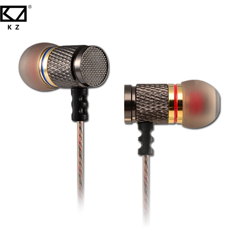 KZ ED2 Super Bass Earbuds Noise Isolating Stereo Earphones With Microphone In Ear Headset DJ XBS BASS Earphone HiFi Earphones original kz ed9 in ear stereo earphones with mic phone metal hifi earbuds dj bass noise isolating headset drive unit earbuds
