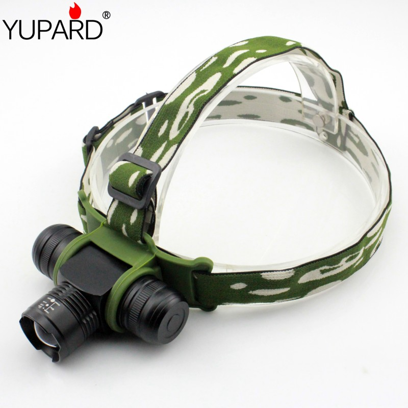 YUPARD Zoomable Zoom IN/OU T6 led Headlamp Adjust Headlight 5 Mode Waterproof AAA 18650 rechargeable battery 1000lm torch singfire sf 90 1000lm 4 mode white bicycle headlamp golden deep grey 4 x 18650