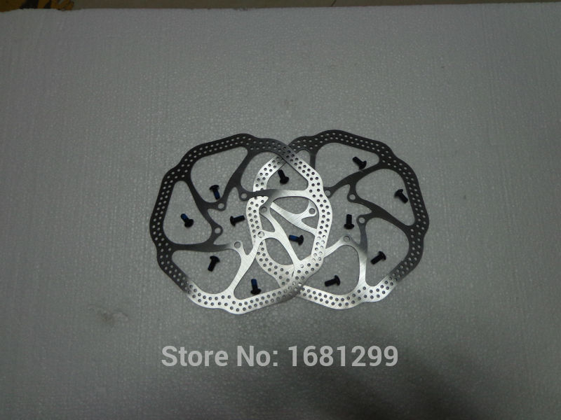 Wholesale 10pcs New HS1 160mm 6 City/TREKKING/ Mountain bicycle stainless steel disc brake rotors MTB bike parts Free shipping