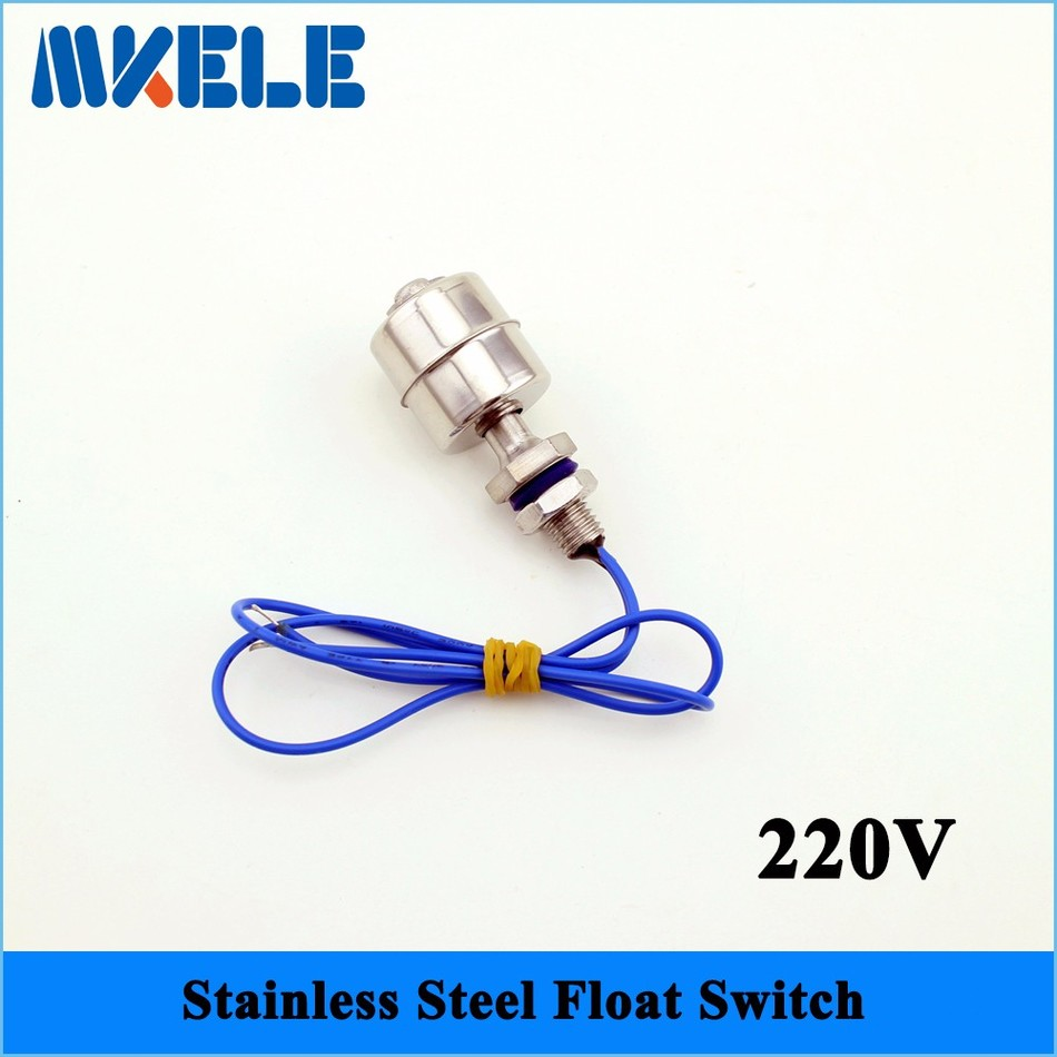 220V MK-SFS4510 Mini Stainless Steel Tank Pool Liquid Water Level Sensor Horizontal Float Switch Hot Full new mj uqk 6 mini submersible pump with float switch small flow high chemical resistance oil tank level switch liquid level sensor