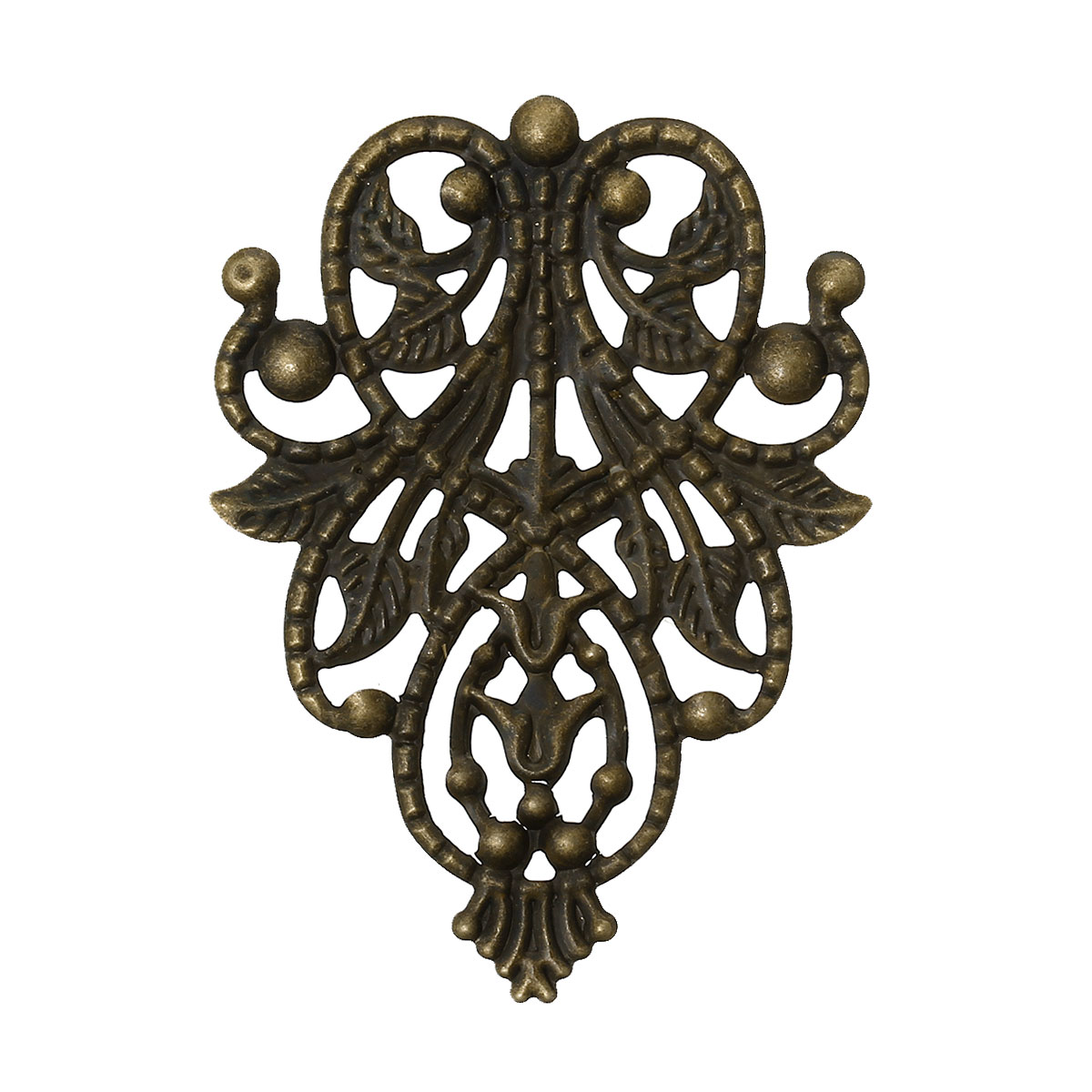 DoreenBeads Alloy Embellishments Findings Flower vine Antique Bronze 4.8cm(1 7/8