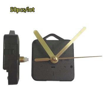 50pcs/lot calssic Clock Replacement Parts Gold hands DIY Wall Quartz Clock Movement Mechanism Repair Tool Kit with hook