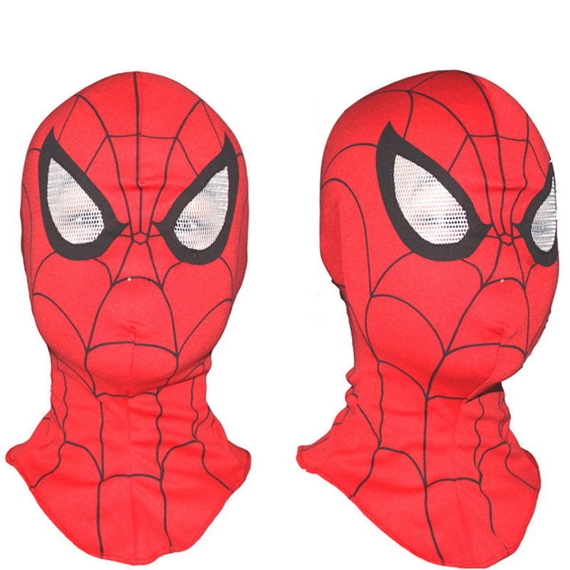 Children And Adult Spiderman Mask Elastic Spider-Man Gloves Cosplay Halloween Party Supplies Hero Toby Helmet Props Accessory