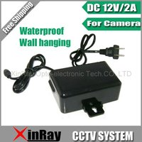 Free Shipping DC 12V 2A Power Supply Adapter For CCTV Camera European Wall Hanging Waterproof Outdoor