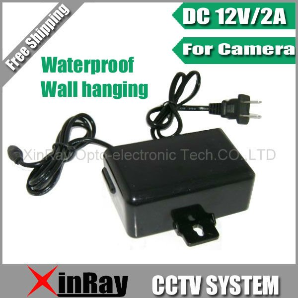 цены Free Shipping DC 12V 2A Power Supply Adapter For CCTV Camera,European Wall Hanging Waterproof Outdoor Power Adapter XR-PA1