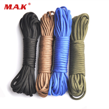 7 Colors Paracord 550 Parachute Cord Lanyard Rope 25ft/50ft/100ft Mil Spec Type III 7 Stand Climbing Camping Survival Rope