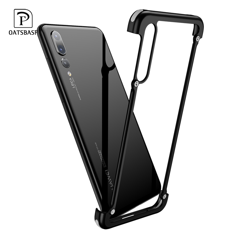 OATSBASF Airbag Metal Case For Huawei P20 Case Luxury Personality Shell For Huawei P20 Pro Case Slim Metal Bumper Cover