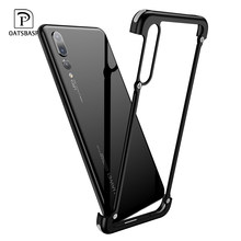 OATSBASF Airbag Metal Case For huawei p20 case luxury Personality Shell for Huawei P20 Pro case Slim Metal Bumper cover(China)