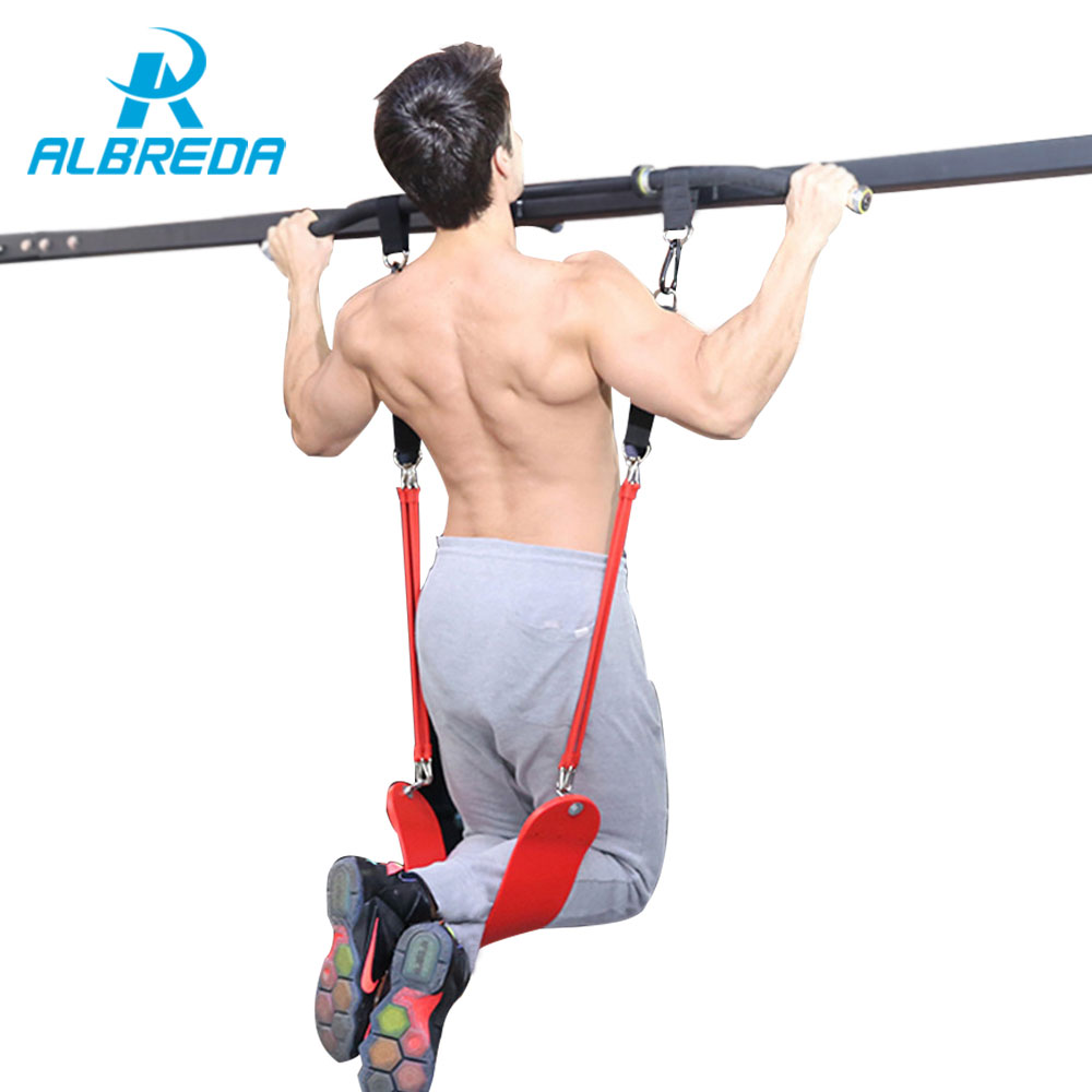 ALBREDA Resistance Band Pull up Bar Slings Straps Sport Fitness door horizontal bar Hanging Belt Chin Up Bar Arm Muscle Training цены