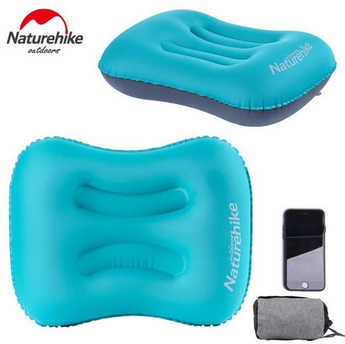 NatureHike Portable Folding Inflatable Air Cushion U Shape Neck Travel Airplane Pillow Outdoor Camping