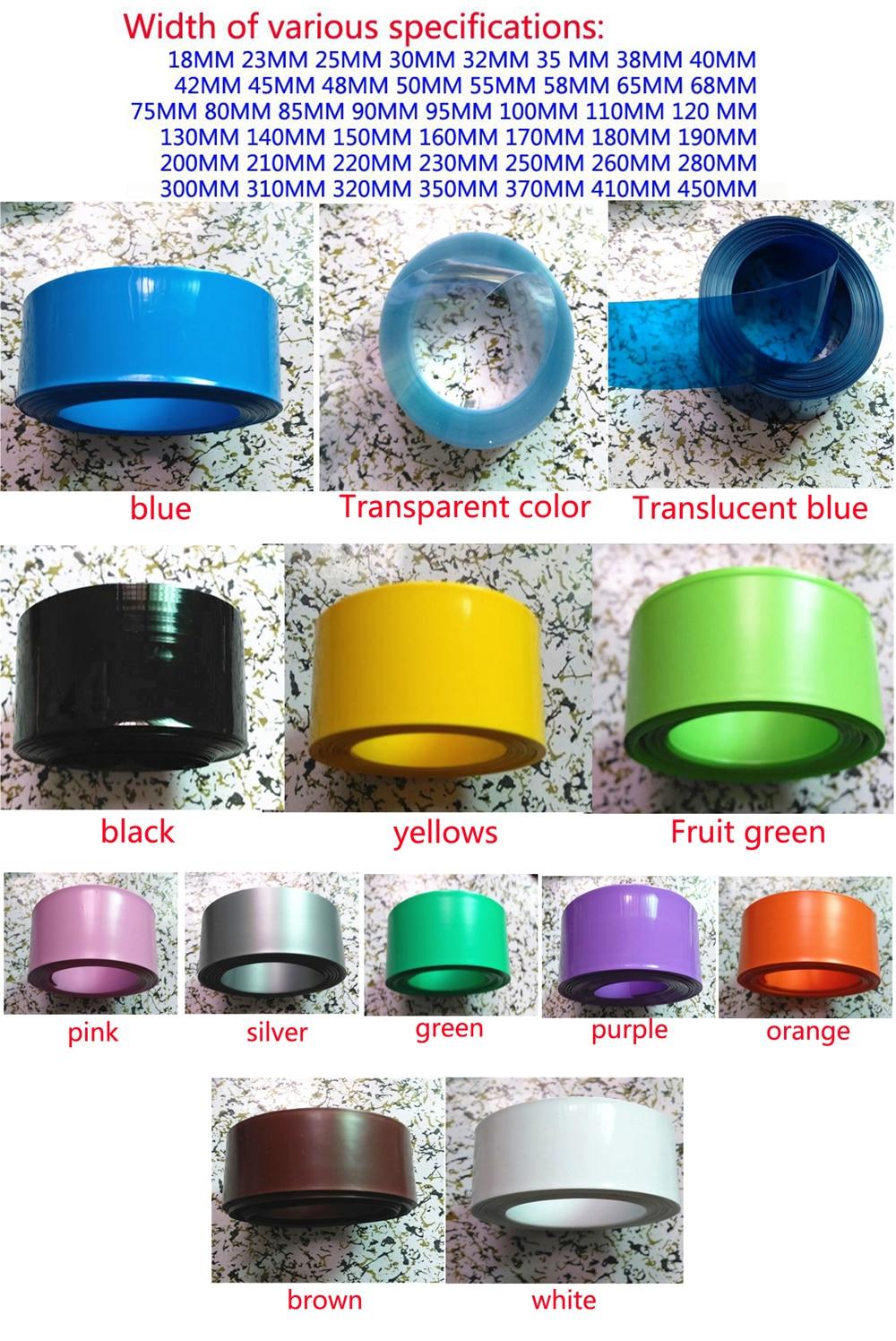 Купить с кэшбэком All kinds of specifications 18650 lithium battery PVC heat shrinkable casing wrap film shrink film insulation casing 220MM wide