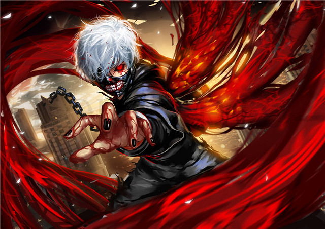 Tokyo Ghoul Posters Cartoon Wall Stickers White Coated Paper Prints