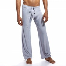 Pajamas Sleep-Bottom Sleepwear Tie-Leggings Sexy Men for Home-Pants Ropa-Interior Hombre