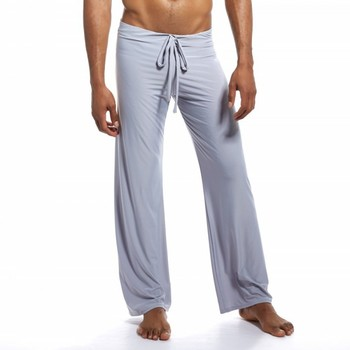 Pajamas For Men Sexy Underwear Men Sleepwear Home Pants Ropa Interior Hombre Tie Leggings Leisure Pajamas Pants Sleep Bottom