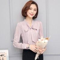 Work Wear 2017 Women Shirt Chiffon Blusas Femininas Tops Elegant Ladies Formal Office Blouse Plus Size