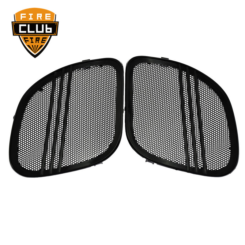 For Harley Touring Road Glide FLTRX 2015 2018 Motorcycle Black Chrome Tri Line Speaker Grills Cover Trim Mesh
