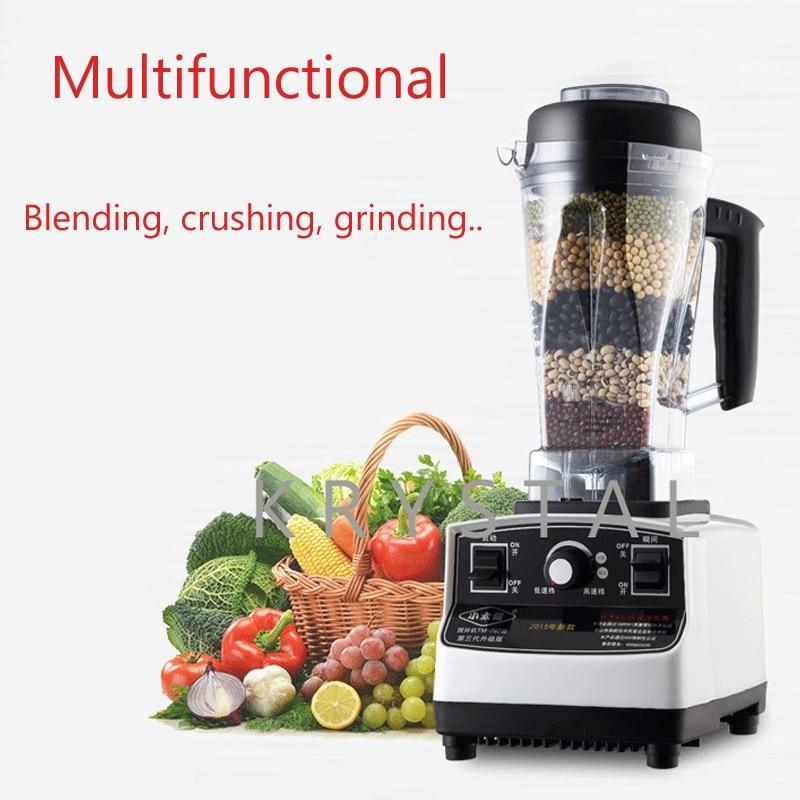 Electric Multifunctional Cooking Machine Fruit Mixer Ice Crusher Soybean Grinding 2L Capacity 1200W Food Blender TM-767-III цена