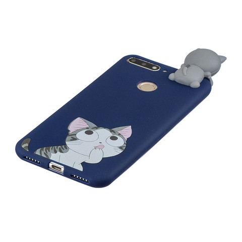Silicone Case sFor Huawei Honor 7A Pro Cover For Fundas Huawei Y6 Prime 2018 3D Doll Toys Candy Soft TPU Phone Cases Women Etui Islamabad