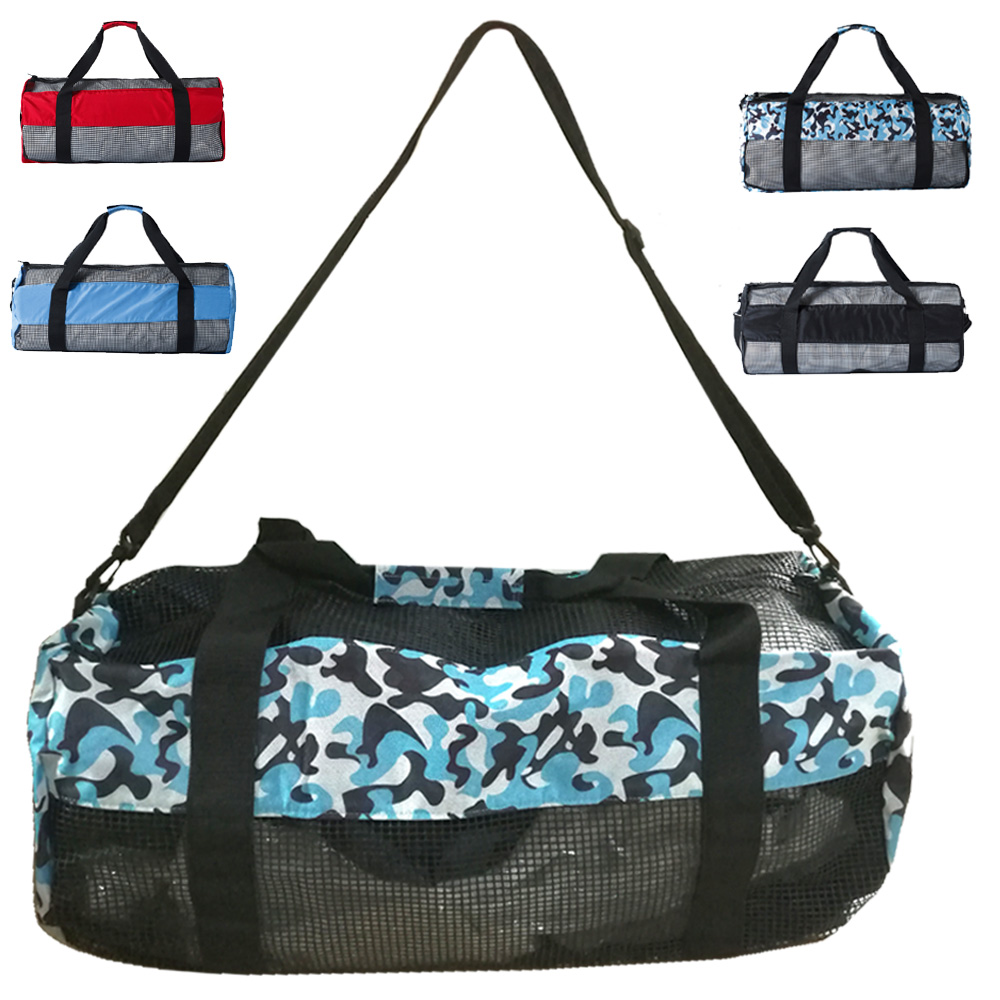 Heavy Duty Large Scuba Diving Mesh Gear Bag For Snorkel Swim Gym Fitness Hiking Travel Surfing Water Skiing Carry Holdall Tool