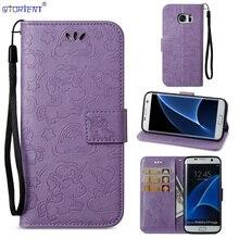 1f5e23cbf8f Para Samsung Galaxy S7 borde G935 Flip cartera SM G935F G935FD G935S  cubierta G935A G935W8 G935R4