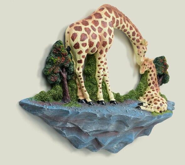 Best-selling classic European pastoral dimensional wall hangings warm mother deer resin wall