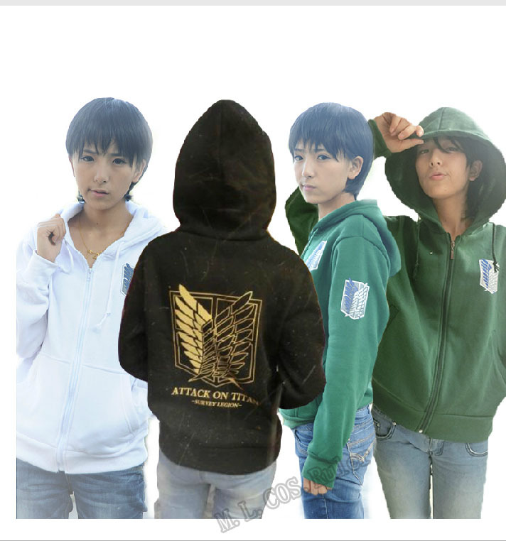 Attack on Titan/Shingeki no Kyojin Survey Corps Coat Brand Cosplay Hoodie Anime