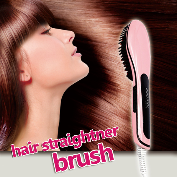 ФОТО Brush Hair Straightener Comb Irons LCD Display Electric Straight Hair Comb Straightening hair styling tool