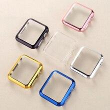 Чехол из поликарбоната для наручных часов Apple Watch, чехол, 42 мм, 38 мм, версия 3/2/1 цветным напылением рамки защитный чехол Крышка для наручных часов iwatch, ремешок аксессуары