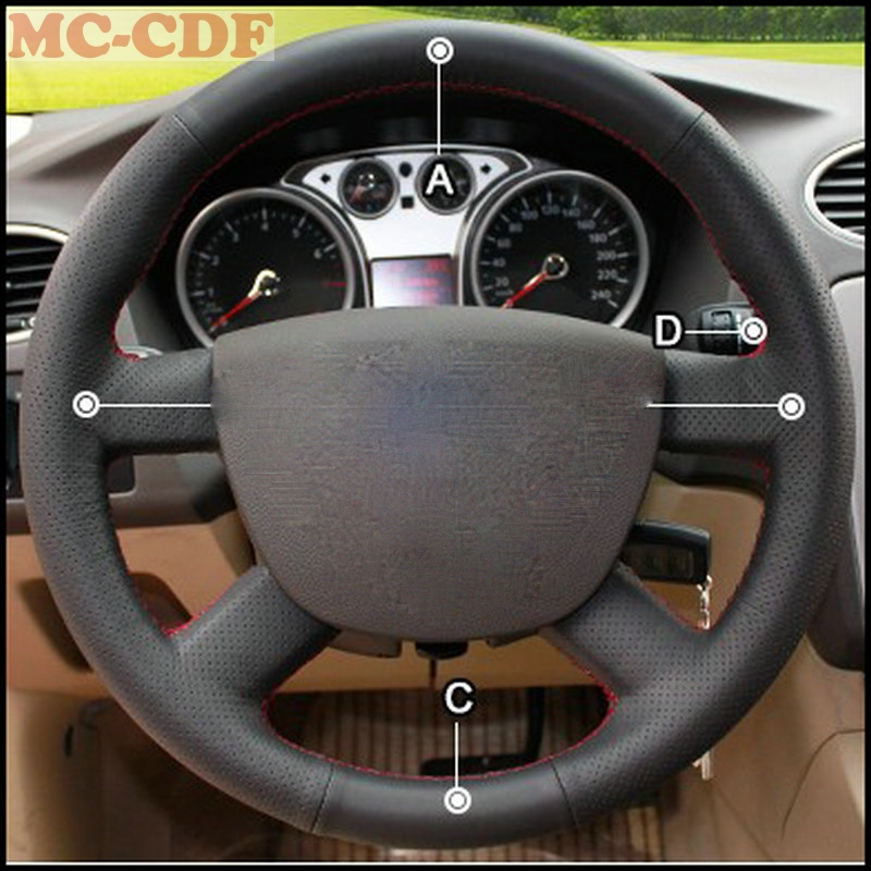 Car Styling Artificial Leather Car Steering Wheel Cover for Ford Focus 2 2005-2011