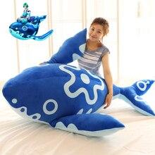 stuffed plush toy huge 160cm blue whale doll soft hugging pillow Christmas gift b0599