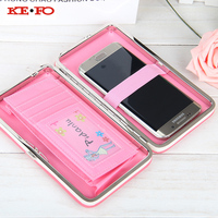 Women Wallet Purse Long Design Wallet Case Universal Cover For Samsung Galaxy C5 Pro C7 Pro