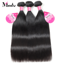 Meetu Brazilian Straight Hair Bundles Human Hair Extensions Non Remy Brazilian Hair Weave Bundles Can Buy 3 Or 4 Bundles Deal