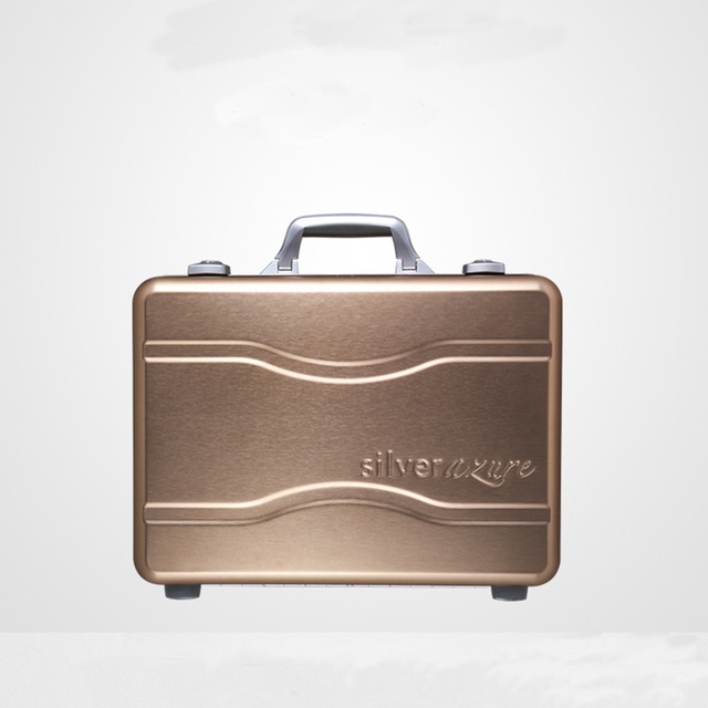 100% Metal Luggage Aluminum Alloy Carry-Ons Rolling Luggage Suitcase High Strength Bag TSA Unlock