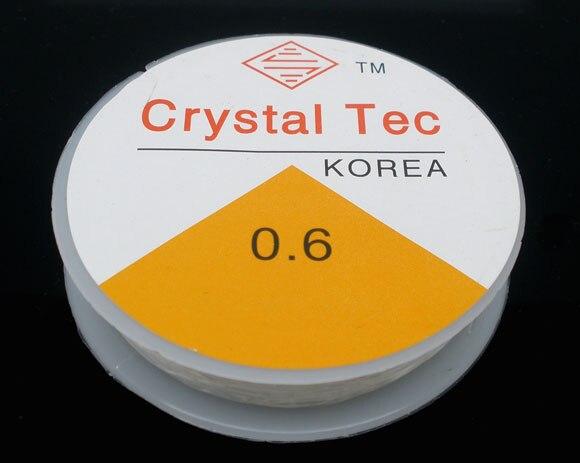 Nylon Jewelry Thread Cord White 0.6mm, 1 Piece New