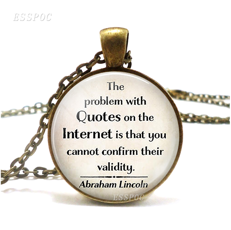 The Problem With Quotes On The Internet Quote Necklace Funny Pendant