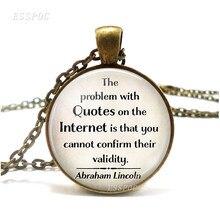 Проблема с цитатами в Интернете ожерелье с цитатой смешной кулон модный стеклянный купольный кабошон ювелирные изделия компьютер Geek подар...