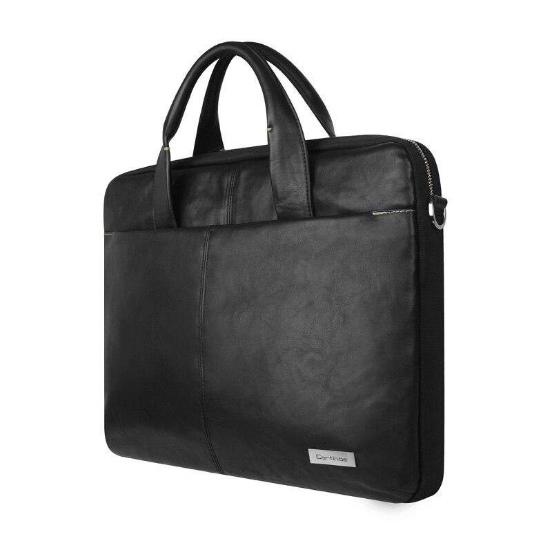Cartinoe PU Leather Business Laptop Bag 15.6 inch Laptop Sleeve case for Macbook Air 15 Pro 15 Retina Bag Men Handbag Briefcase