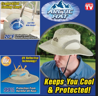 Hot Summer Wide Brim Sun Hat UV Protection Arctic Cap Hat Cooling Ice Cap Sunscreen Hydro Cooling Bucket Hat