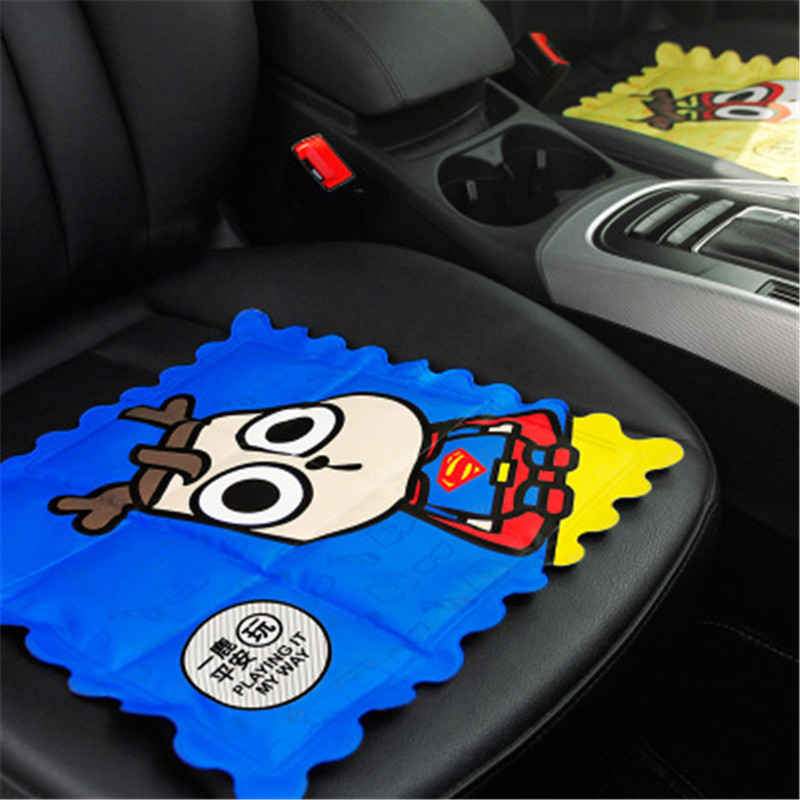 Car Cartoon Characters Ice Cushion Summer Breathable Cool Pad Comfort Small Square Seat Covers mat Brochure Mat Auto Accessories