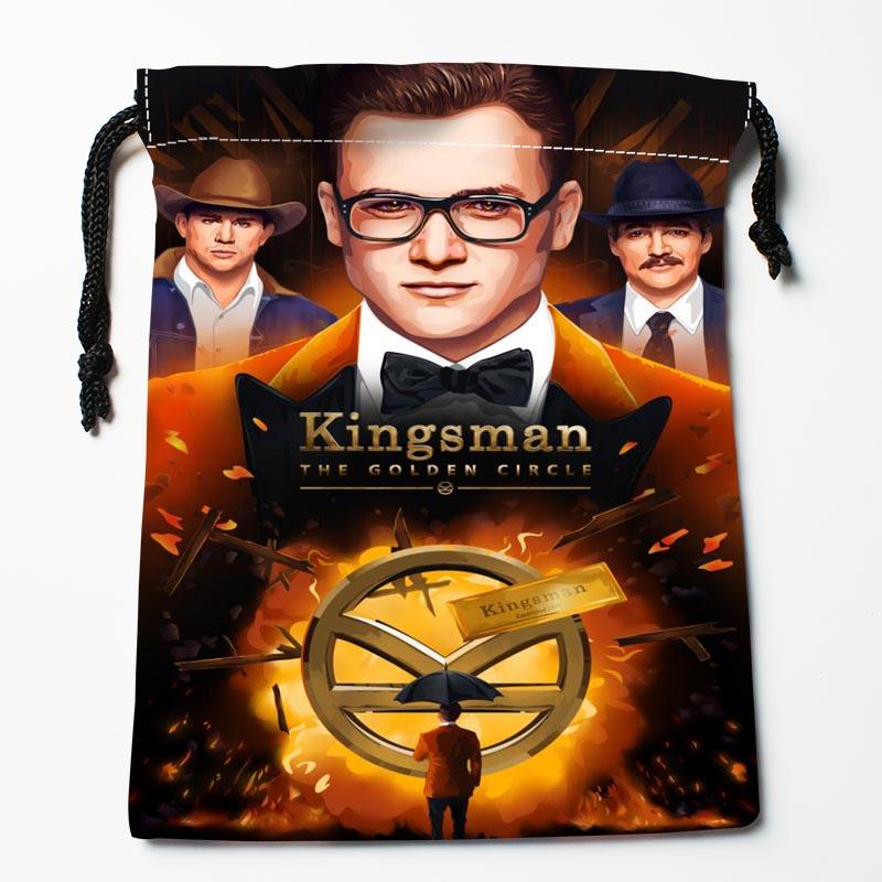 New Custom Kingsman The Golden Circle Bags Custom drawstring bags Printed gift bags 27x35cm Compression Type