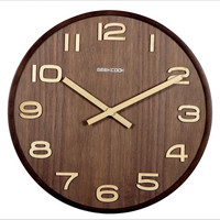 12 /14 Inch Vintage Wall   Clock   Simple Modern Design Wooden   Clocks   for Bedroom 3D Wood Wall Watch Home Decor Silent Wall   Clock