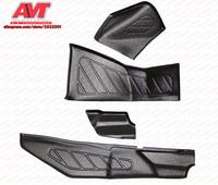 Pads on inner lining doors and the tunnel for Lada Vesta 2015- sill plates 2 pcs / 1 set plastic ABS car styling accessories