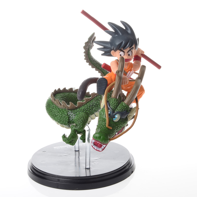 BOHS Goku Riding Dragon Dragon Ball Z Super Saiyan  PVC Action Figures Collection Model Toy Doll