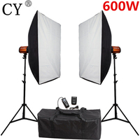 CY Fotografie Studio Soft Box Flash Verlichting Kits 600ws Stroboscoop + Softbox Stand Set Fotostudio Accessoires Godox 300SD