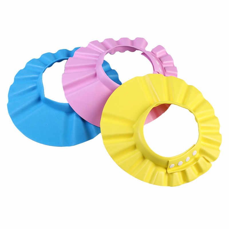 יילוד תינוקות אמבט מקלחת מוצרים, רך מתכוונן פעוטות שיער לשטוף כביסה כובע כובע, שמפו רחצה בטיחות הגנת מגן
