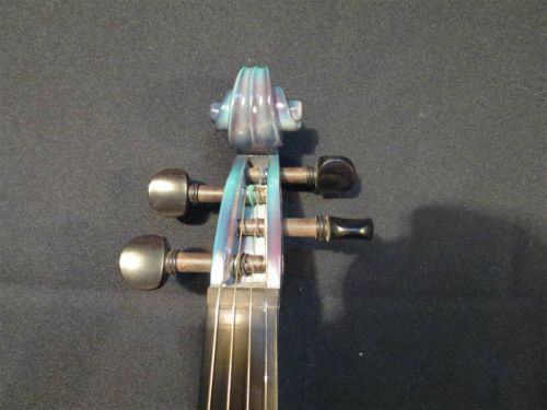Lightning Painted Acoustic & Electric Violin 4
